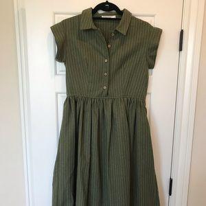 Mod Ref Green Button Dress